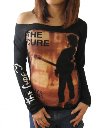 The Cure Alternative Punk Rock Diy Black Raw Edge Off